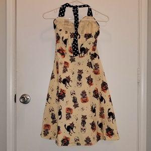 bc2ad65701e Sourpuss Dresses - Sourpuss Retro Halloween Black Cats Peggy Dress